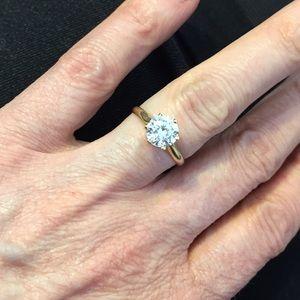 14k - CZ engagement ring